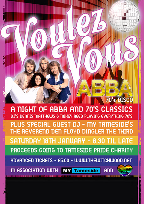 ABBA / 70S DISCO - SAT 18TH JAN