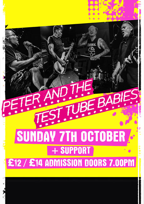 PETER AND THE TEST TUBE BABIES - SUN 7TH OCT
