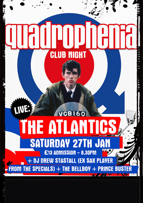 QUADROPHENIA NIGHT - SAT 27TH JAN