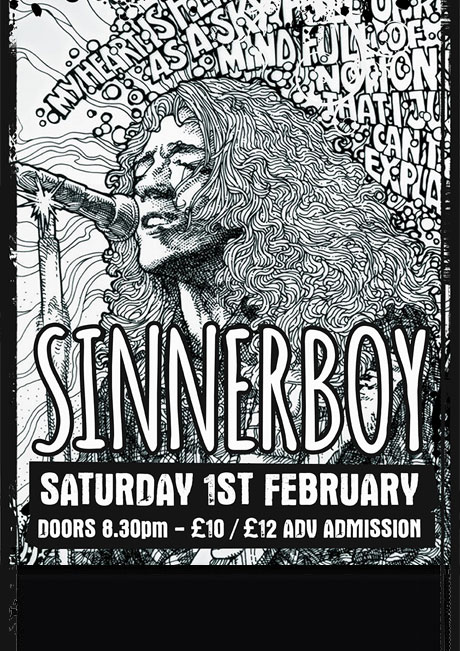 SINNERBOY - SAT 1ST FEB