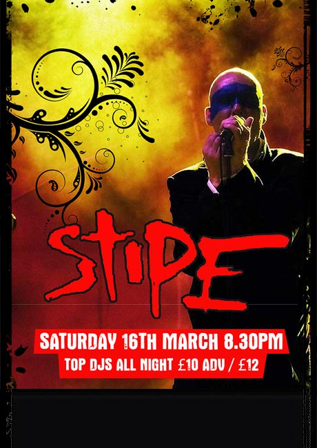 STIPE - SAT 16TH MARCH